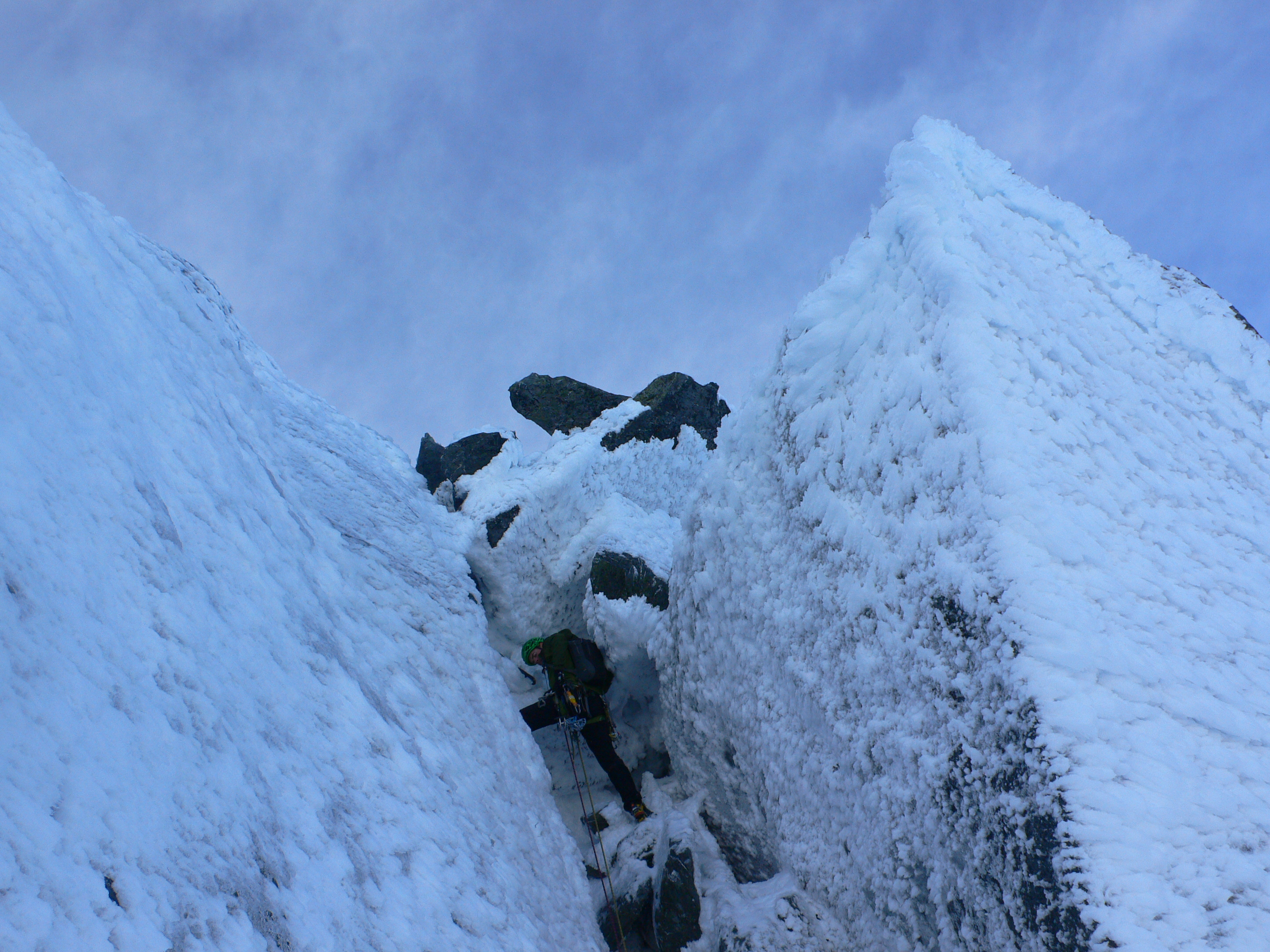 Stairway to Methven – Final pitch SW Face Single Cone